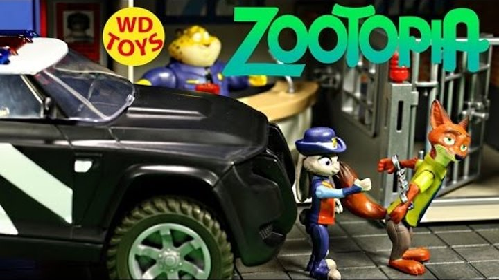 New Disney Zootopia Judy Hopp's Police Cruiser Deluxe With Nick Wilde Unboxing - WD Toys