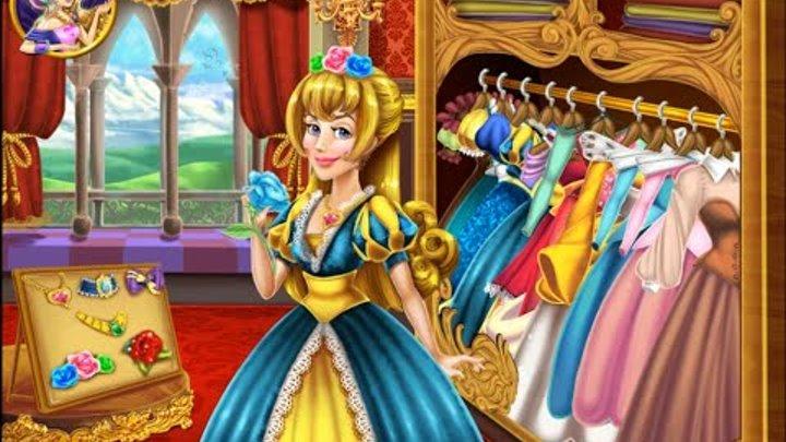 NEW мультик онлайн для девочек—Аврора принцесса готовится к выпускному—Игры для маленьких детей