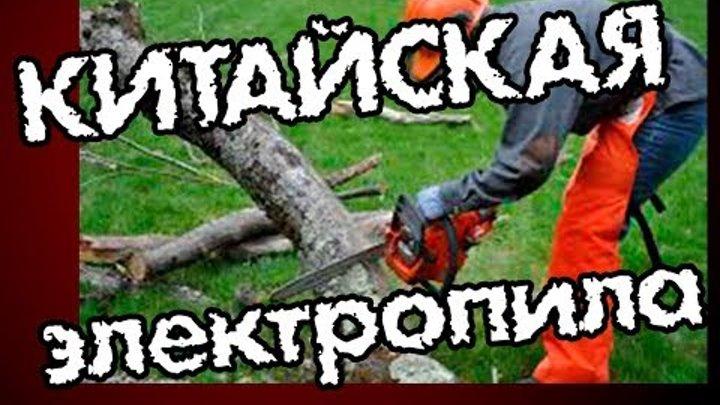"""Как мы пилили дерево дешевой электропилой! Ужас?! """"ПИЛА-4"""" отдыхает!!!"""