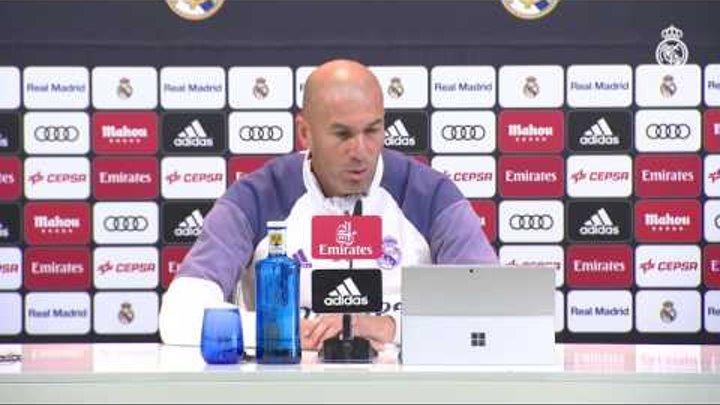 """Zidane: """"Hay que respetar a la Cultural y a la gente que va a venir y hacer un buen partido"""""""