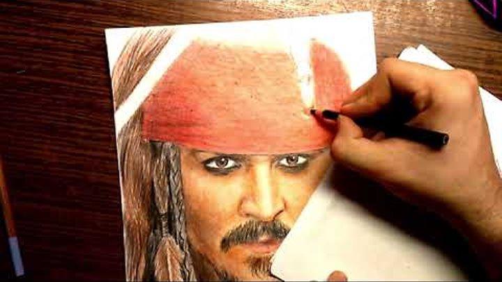 Джек Воробей. Пираты карибского моря. Рисунок Джека Воробья
