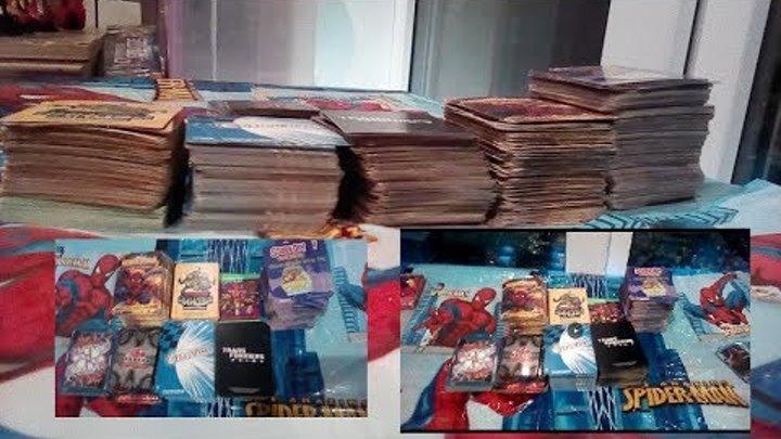 Карточки человек паук герои и злодеи, черепашки ниндзя, Скуби-Ду. Большие коллекции!