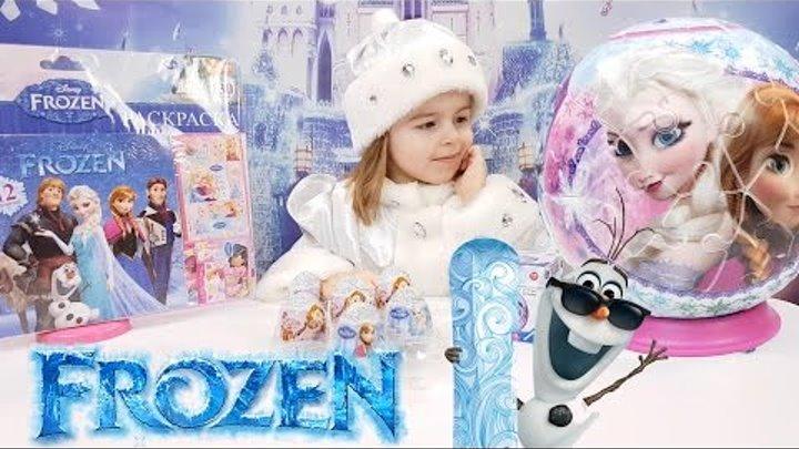 ✿ ХОЛОДНОЕ СЕРДЦЕ сюрпризы ВОЛШЕБНЫЙ ШАР Принцессы Анна, Эльза и Олаф игрушки ФРОУЗЕН Детские Часы