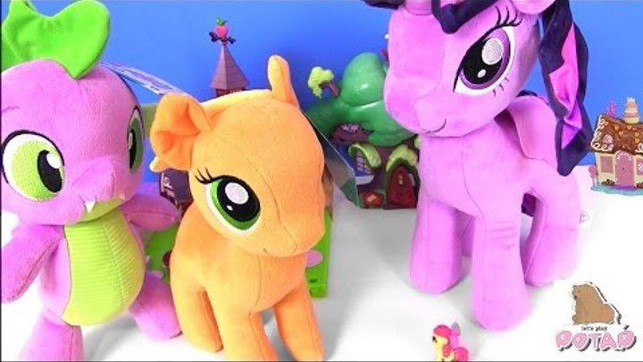 MLP ПОНИ ГИГАНТЫ! Видео для Детей! Май Литл Пони Мультик Pony Plush Видео для Детей #Мультики