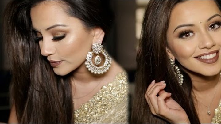Diwali Makeup Tutorial 2015 | Golden & Bronze Party Makeup | Kaushal Beauty