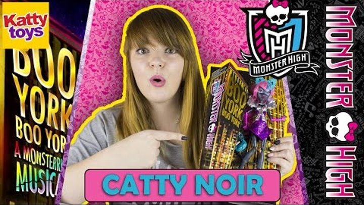 Кэтти Нуар (Школа Монстров Бу Йорк) Monster High BOO YORK, Catty Noir Обзор на Русском