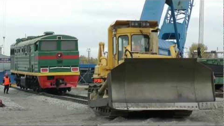 ЧТЗ трактор ДЭТ-320, восстановительный поезд РЖД