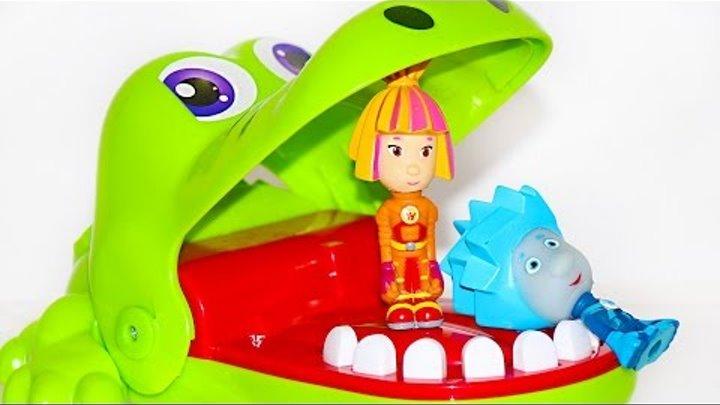Фиксики игровой мультик: Нолик и Симка играют в крокодил Челлендж!