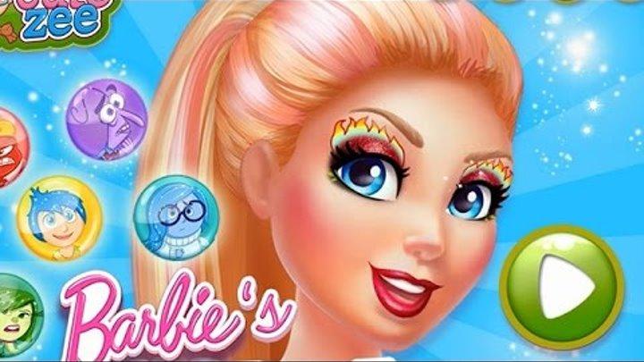 NEW Игры для детей 2015—Disney Барби Макияж в стиле мультика Головоломка—Мультик для девочек