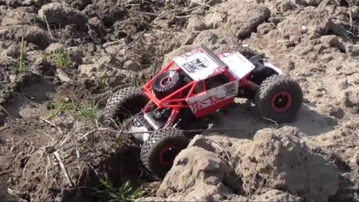 Обзор RC машинки с Banggood Rock Crawler HB-P1803