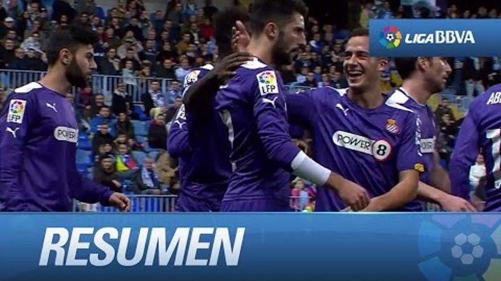 Resumen de Málaga CF (0-2) RCD Espanyol