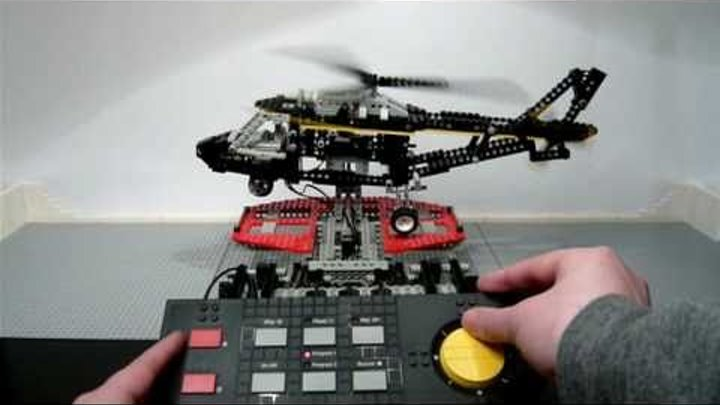 LEGO 8485 Technic Control Center II - Helicopter - built in Stop Motion (released 1995) / HD 720p