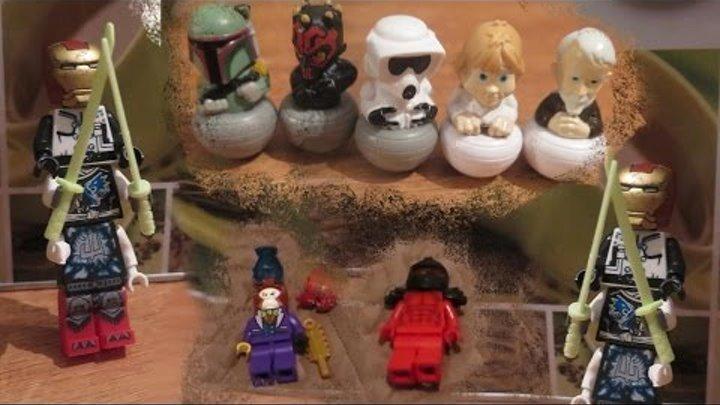 Лего человечки самоделки Фигурки из лего НиндзяГо и огромный повелитель теней