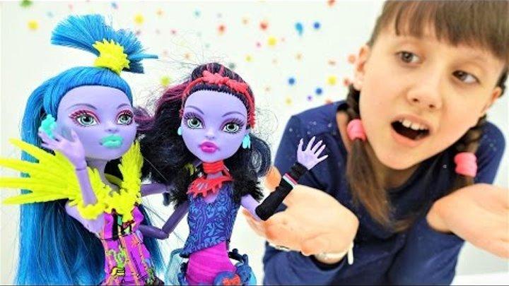 Монстер Хай - Видео для девочек! Кукла Монстер Хай (Monster High) Джейн и двойник! Игры для девочек