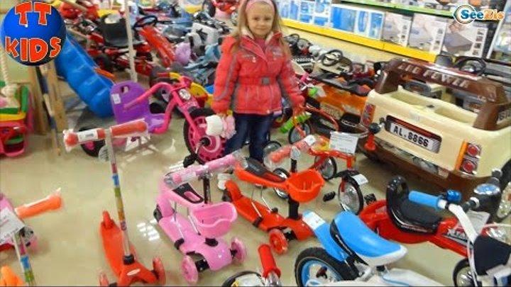 Хелло Китти и Ярослава. Шопинг в магазине игрушек. Покупка Самоката. Видео для детей. Hello Kitty