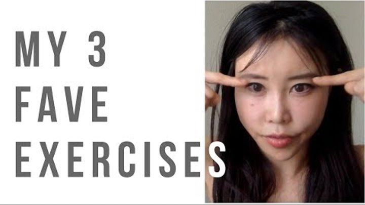 Three Favorite Face Yoga Exercises of Mine | Jowl, Eyes and Stretch!