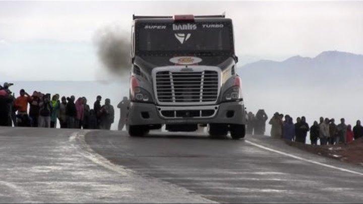 Short Take: Super-Turbo Semi Freightliner takes on 2013 Pikes Peak International Hill Climb