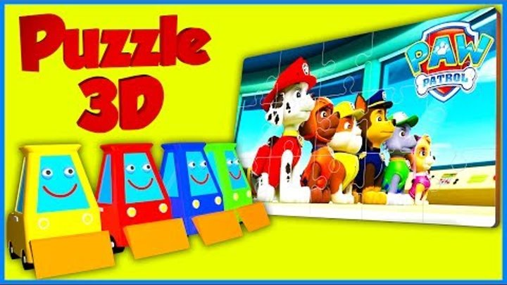 Puzzle cartoon for kids 3D - PAW Patrol. Пазл мультик - Щенячий патруль.