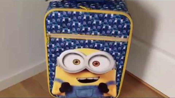 Minions trolley kuffert til børn ★ Gratis levering