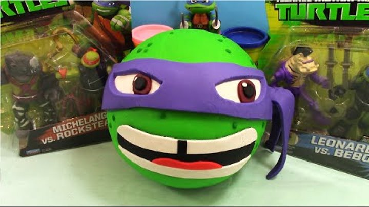 TMNT Giant Play Doh Surprise Donatello - Surprise Egg and Toy Collector SETC