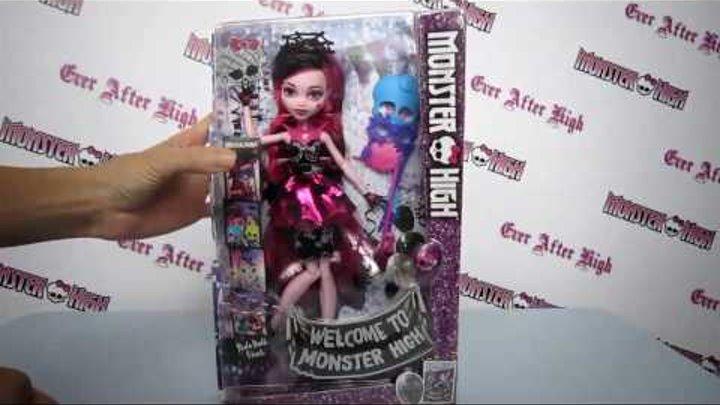 Дракулаура Добро пожаловать в школу Монстров обзор куклы Дракулауры Монстер Хай