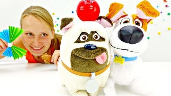 Тайная жизнь домашних животных серия 4:Мэл и Макс ищут мяч.Видео про игрушки.
