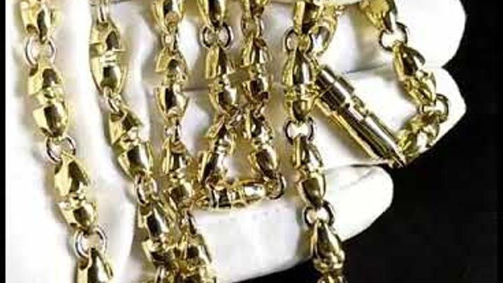 Золотая цепочка плетение Пуля из жёлтого золота 585 пробы, длина 66 см., вес 130 гр., арт. i792