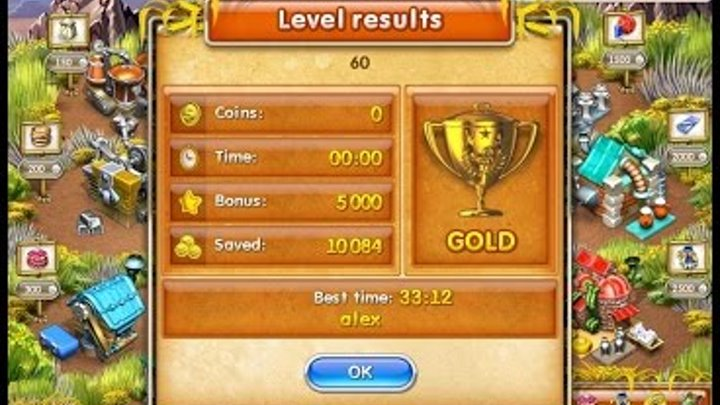 Farm Frenzy 3 American Pie (level 60) only GOLD Веселая ферма 3 Американский пирог Уровень 60 Золото