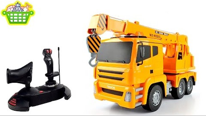 Автокран на радиоуправлении - Рабочие машинки для детей RC CRANE TRUCK for Kids