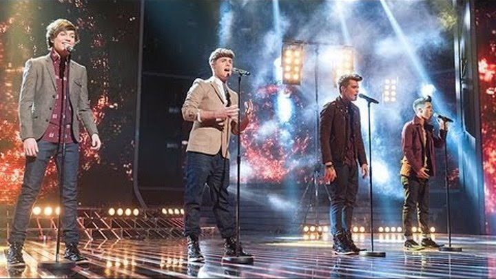 Union J sing Jackson 5's I'll Be There - Live Week 8 - The X Factor UK 2012