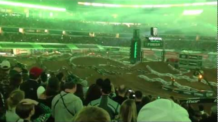 Kevin Windham HUGE 110ft. Transfer at Dallas Texas Supercross 2012