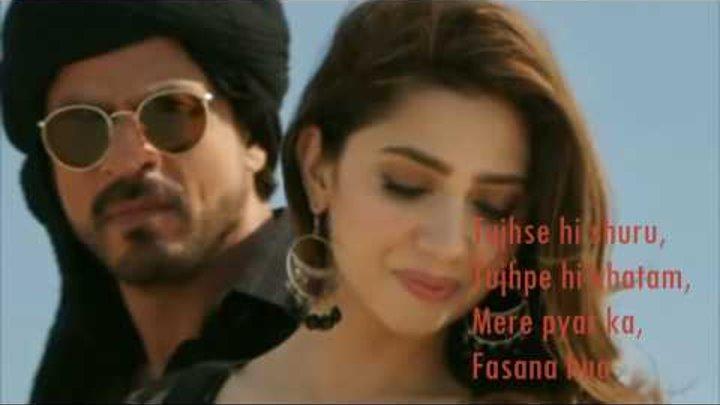 Zaalima   Raees   VIDEO LYRICS   Shah Rukh Khan & Mahira Khan  
