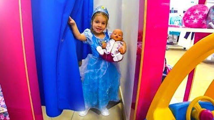 Кукла Беби Бон и Золушка шопинг в магазине игрушек КАК МАМА Видео для девочек и детей Baby doll