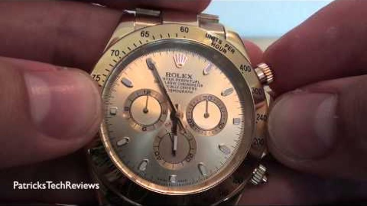 """Rolex Replica Daytona Oyster Perpetual """"18k gold"""" superlative chronograph officially certified"""