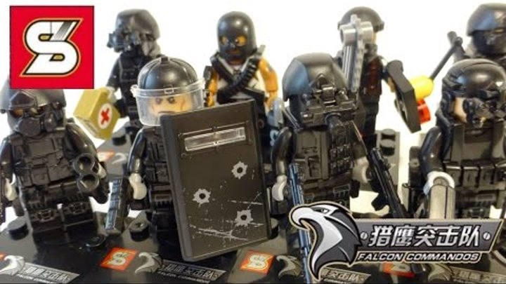 Лучшие китайские Лего минифигурки SY607 Военная полиция с оружием