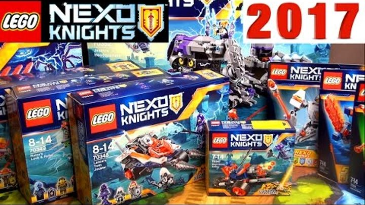 Наборы Лего Нексо Найтс 2017 и LEGO Nexo Knights 70347 King's Guard Artillery