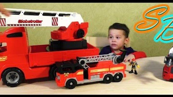 ВЛОГ Играем в игрушки пожарные машины Видео для детей VLOG Playing fire truck toys Video for kids