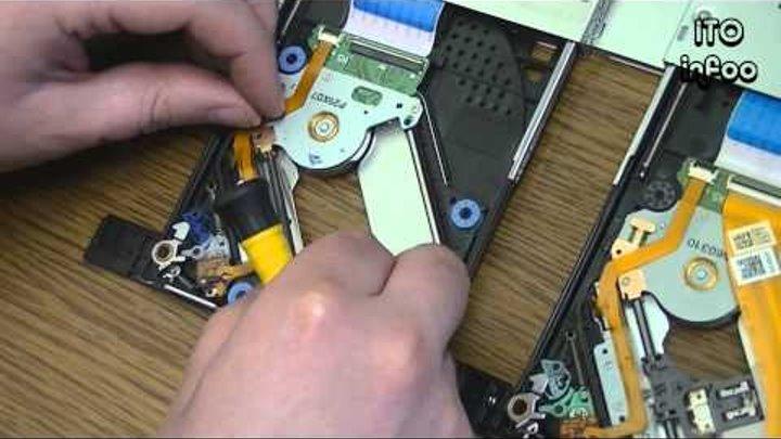 Ремонт ноутбучного DVD привода.