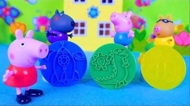Носики Курносики • Свинка Пеппа делает пластилиновые фигурки - Развивающий мультик. Peppa Pig playing with plasticine