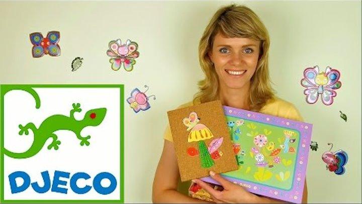 Носики Курносики • Видео для детей. Учимся делать цветочную аппликацию Джеко (Djeco Toys)