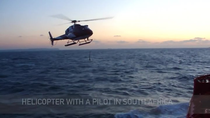 Helicopter with a pilot in South Africa, вертолёт с лоцманом в ЮАР