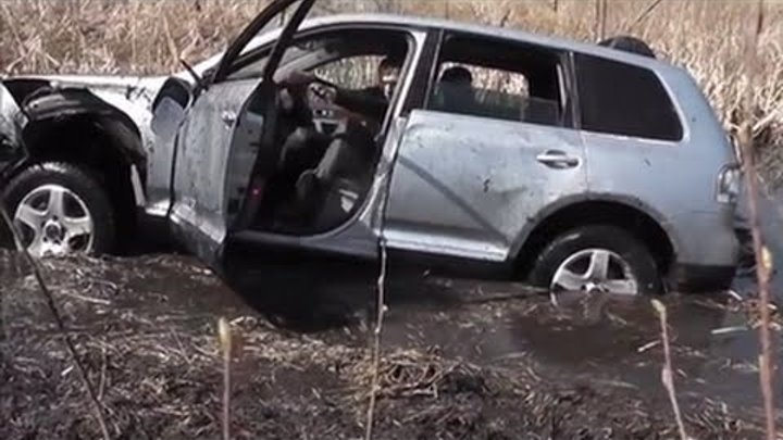 Как УБИТЬ Volkswagen Touareg - How to Crashes the VW Touareg