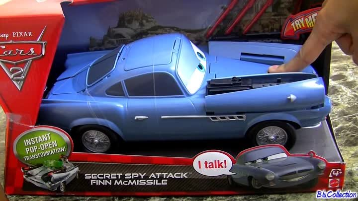 Super Cool Secret Spy Attack Finn McMissile CARS 2 Disney Pixar 1:24 scale review by Blucollection
