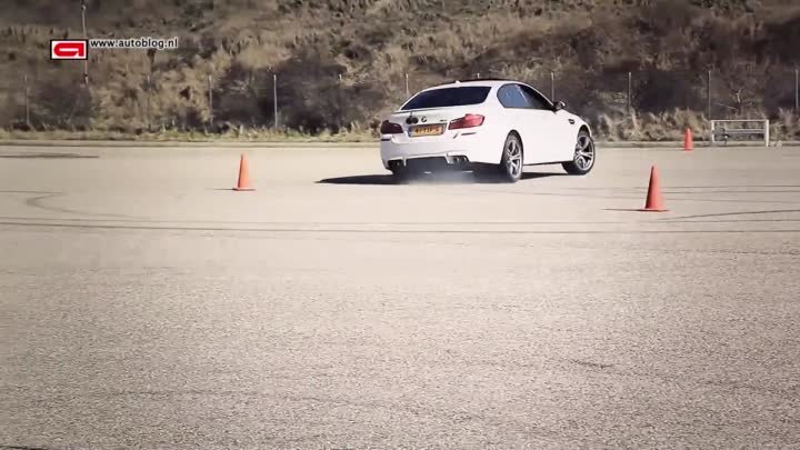 BMW M5 drifting with DJ Headhunterz