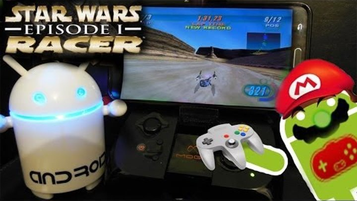 Star Wars Episode I - Racer N64 on Android emulator N64oid with MOGA on Samsung Galaxy Note 3