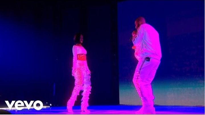 Rihanna - Work ft. Drake - Live at The BRIT Awards 2016