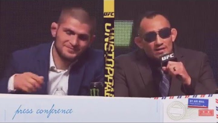 Khabib Nurmagomedov vs Tony Ferguson press conference