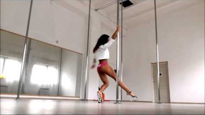 Pole Dance Nina Kozub Combo with one spin