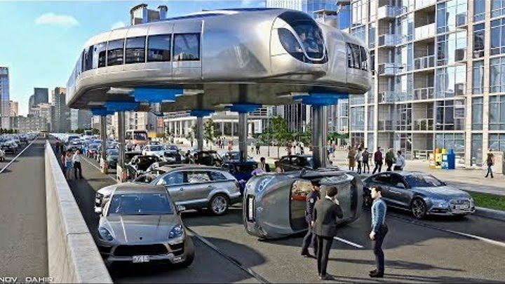 Buses That Can Step Over Traffic - Amazing Gyroscopic Transport Concept