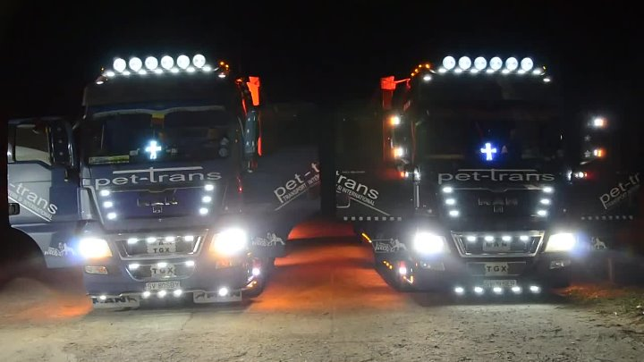 Man TGX 2x Truck LIGHTS SHOW — копия